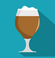 glass beer icon flat style vector image vector image