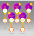 glass rounds info-graphic with yellow and purple vector image vector image