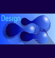 grace style in blue blue tones vector image vector image