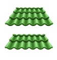 Green corrugated tile element vector image vector image