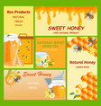 honey horizontal vertical and square banners vector image vector image