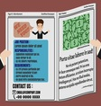 Job Finder Advertisement on Newspaper vector image vector image