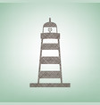 lighthouse sign brown flax vector image