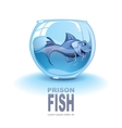 little blue fish vector image vector image