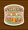 logo for spices and herbs vector image vector image