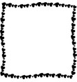 love twisted frame made of black hearts isolated vector image vector image