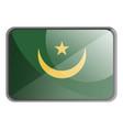 mauritania flag on white background vector image