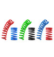 metal springs realistic colorful isolated coils vector image