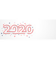 minimal 2020 line style new year typography design vector image