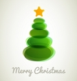 Modern Christmas tree card vector image vector image