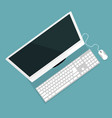modern computer design with top view vector image vector image