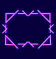 neon frame the effect a neon lamp linear vector image vector image