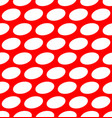 ovals on red seamless pattern vector image