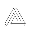 penrose triangle icon geometric 3d object optical vector image