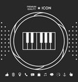 piano keyboard icon graphic elements for your vector image vector image