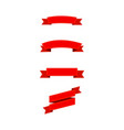 red ribbons with yellow lines christmas red vector image vector image