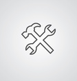 repair outline symbol dark on white background vector image vector image