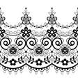 retro lace seamless pattern monochrome decoration vector image vector image