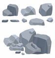 rocks stones collection different boulders in vector image