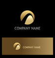round abstract loop gold company logo vector image