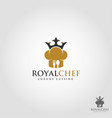 royal chef is a stylish professional expert chef vector image vector image