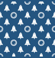 seamless blue and white maritime pattern vector image vector image