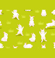 Seamless pattern with cute easter bunnies