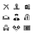 set airport icons - airplane airport passport vector image