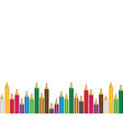 set colored pencils on white background vector image vector image