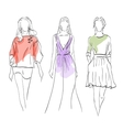 Set Models fashion vector image