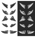set of wings on white background design elements vector image vector image