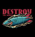 shark bomb vector image