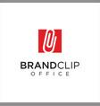 square clip logo logo idea icon design stock vector image vector image