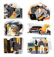 swindlers and criminals hackers robbers burglar vector image