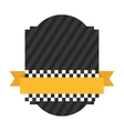 taxi frame ribbon emblem icon vector image