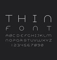 thin font alphabet vector image