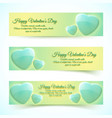 valentines day holiday banners vector image vector image