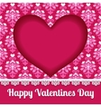 Valentines heart card lace design vector image