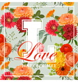 Vintage Colorful Flowers Graphic Design vector image vector image