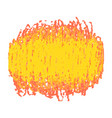 yellow crayon scribble texture stain isolated on vector image
