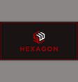 yw hexagon logo design inspiration vector image vector image