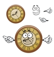 Vintage isolated clock cartoon character vector image