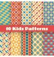 Retro kids seamless patterns Endless vector image