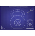 3d model of weight on a blue vector image vector image