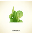 abstract forest vector image vector image