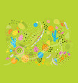 abstract organic ingredients spring collage vector image