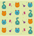 background of kittens vector image