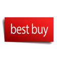 best buy red paper sign isolated on white vector image vector image