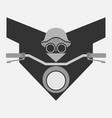 biker concept minimal symbol vector image vector image