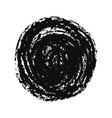 black grunge hand drawn round spot on white vector image vector image